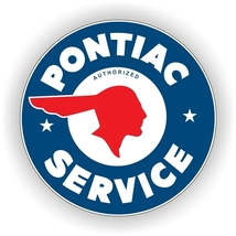 "Pontiac Service GM 25.5"" Baked Enamel Metal Sig... - $119.95"