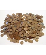 500 U.S. WHEAT CENTS 1909 TO 1958 MIXED DATES & MINT MARKS UNSEARCHED - $46.50