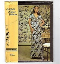 Vtg McCalls #2499 High Waisted 1970 Pattern Dress Uncut Designer Collect... - $14.36