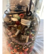 Ball Ideal Wire Seal Quart Jar Full Of Beads Treasure In Old Jar Worth $$$ - $14.52