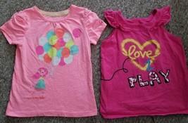 Okie Dokie Lot Of Pink Tops Girls Size 5T Cherokee - $4.88