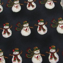 New Hallmark Christmas Snow Man Holiday Stripe Navy White Red Necktie Tie X6-60 - $19.79
