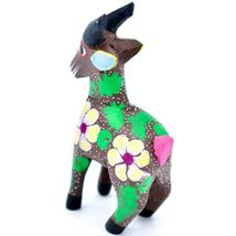 Handmade Alebrijes Oaxacan Wood Carving Painted Folk Art Mountain Goat Figurine  image 3