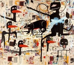 """Jean-Michel Basquiat """"Tenor, 1985"""" HD print on canvas large wall picture... - $25.73"""