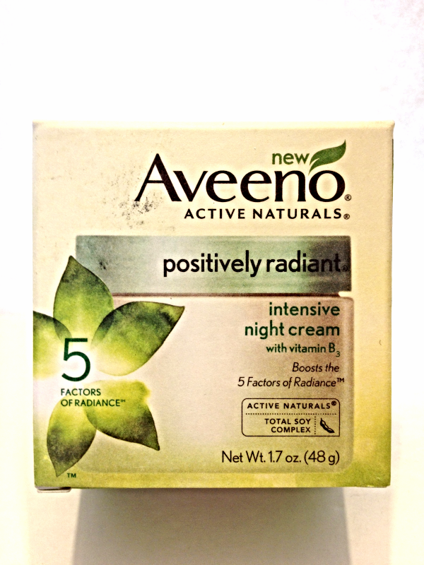 New Aveeno Active Naturals Positively Radiant Intensive Night Cream 1.7 oz