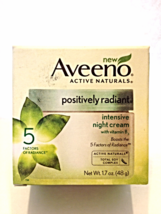 New Aveeno Active Naturals Positively Radiant Intensive Night Cream 1.7 oz - $14.00