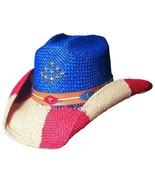 Bullhide By Monte Carlo 2124 Patriotic The Patriot Panama Straw Cowboy C... - $66.00