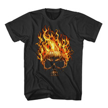 New Skull Head in Fire T-shirt for Men Shirt Bl... - $25.99 - $30.99