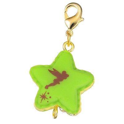 Disney Store Japan D-Tech Cute Star-Shaped Macaron Tinker Bell Charm Kawaii