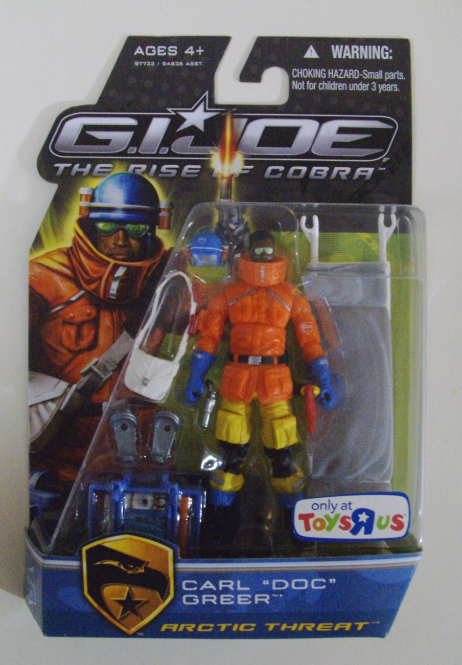 "GI Joe The Rise of Cobra Arctic Threat Carl ""Doc"" Greer Toys R Us Exclusive -New"
