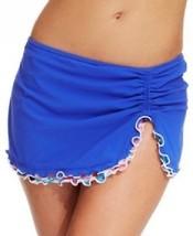 NWT Profile by Gottex Blue Ruched Swim Skirt Bottom Plus 18W 20W 22W 24W 8 - $22.99