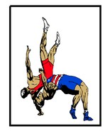 Wrestling8-Digital Clipart - $4.00