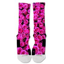 "Nike Elite socks custom Pink Roses Valentine's Day ""Fast Shipping"" - $24.99"