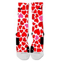"Nike Elite socks custom Red Hearts Valentine's Day ""Fast Shipping"" - $24.99"