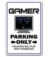 GAMER Novelty Sign games game video parking gam... - $6.88