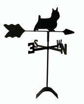 silky terrier  roof weathervane black wrought iron look made in usa TLS1... - $21.99