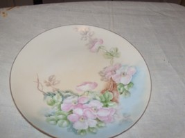 """Beautiful Hand Painted 8 3/4"""" Plate Vintage Soft Pastel Colors - $7.91"""