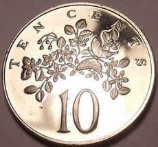 Rare Proof Jamaica 1970 10 Cents~Butterfly~Lignum Vitale~Only 12,000 Minted~Fr/S - $5.46