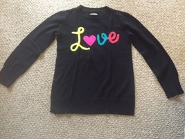 "The Children's Place Black Sweater Long Sleeve ""LOVE"" Girls Size Large 1... - $7.25"