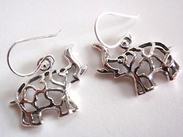 Elephant Filigree Dangle Earrings 925 Sterling Silver Corona Sun Jewelry - $14.97
