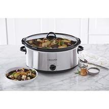 Crock Pot Slow Cooker 7 Quart Stainless Steel Dips Casseroles Tailgating... - $53.08