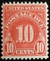 1931 10c Postage Due, Carmine Scott J84 Mint F/VF NH - $2.44