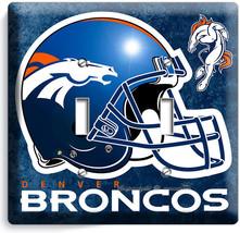 Denver Broncos Football Team Double Light Switch Wall Plate Boys Room Man Cave - $12.99