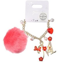 Disney Store Japan Jewel Minnie Swarovski Pom Pom Bag Charm / Bracelet K... - $36.90