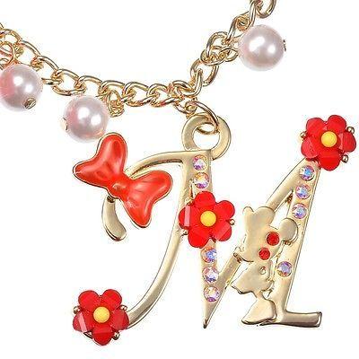 Disney Store Japan Jewel Minnie Swarovski Pom Pom Bag Charm / Bracelet Kawaii image 2