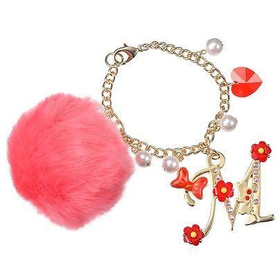 Disney Store Japan Jewel Minnie Swarovski Pom Pom Bag Charm / Bracelet Kawaii image 3