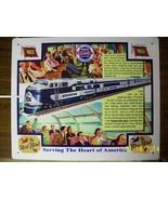 RAILROAD TIN SIGN -  Wabash Cannonball Blue Bird / Train Wall Art / Chicago - $20.99