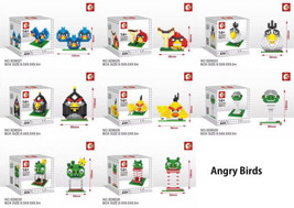 Angry Birds Nanoblock 8 Sets Bird Building Bloc... - $64.33