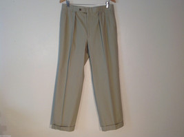 Brand Unknown Vintage Men's Size M Khaki Chinos Pants Pleated w/ Front C... - $39.99