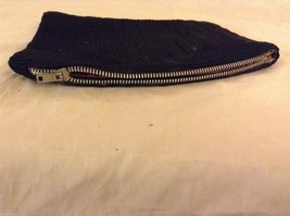 Black Coin Purse w/ Zipper and cording vintage image 2
