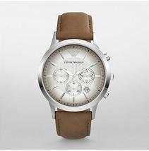 ARMANI AR2471 CHRONOGRAPH TAN LEATHER MEN'S WATCH - $156.99