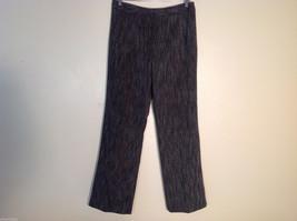 Signature by Larry Levine Womens 2 Piece Suit Blazer Slacks Size 6 Poly Blend