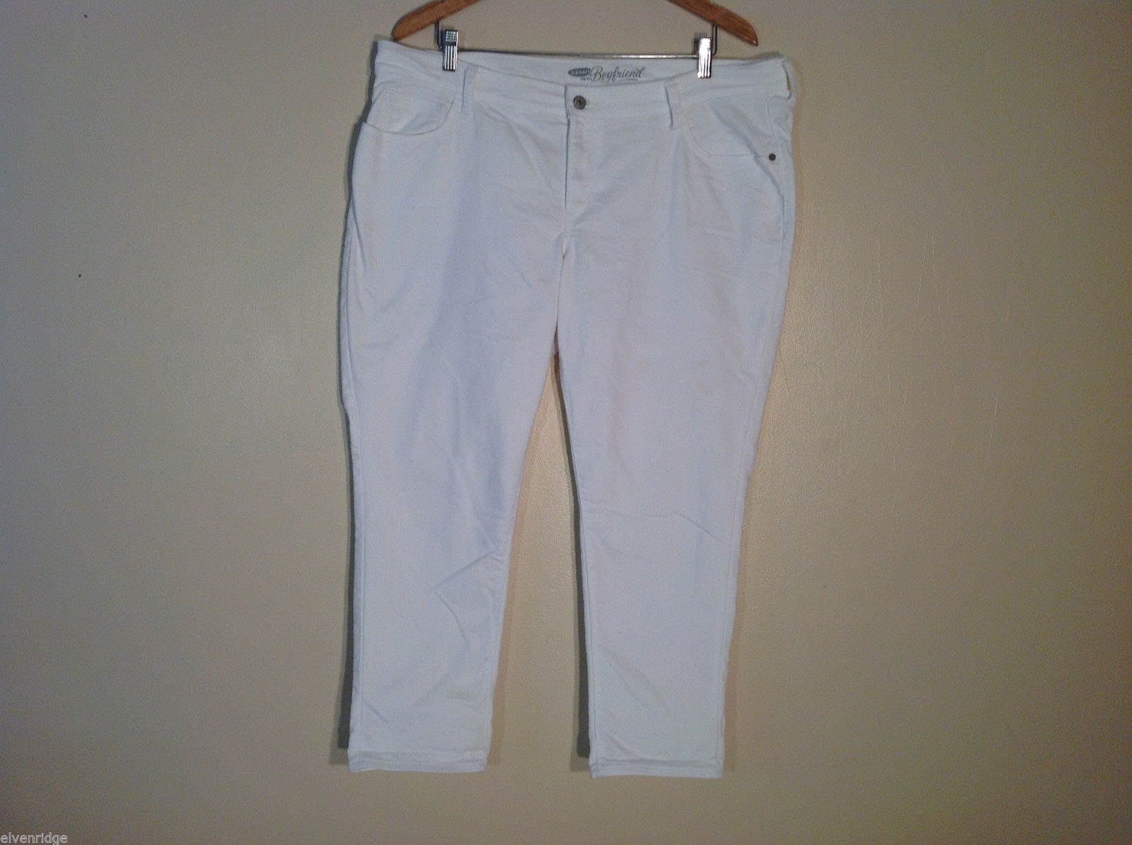 Old Navy Boyfriend Women's Size 16R White Denim 100% Cotton Jeans