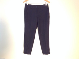 Talbots Womens Size 4 Black Wool Capri Dress Pants Slacks