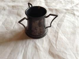 Quadruple Plated Stein Cup w/ 3 Handles antique miniature image 2