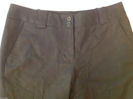 Talbots Womens Size 4 Black Wool Capri Dress Pants Slacks image 3