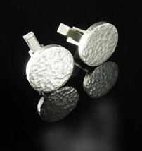 Brutalist Sterling silver Cufflinks Signed j5-651 Vintage Jacob M. Oldak... - $75.00