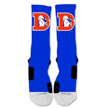 "Nike Elite socks custom Denver Broncos Vintage Logo Double ""Fast Shipping"" - $24.99"