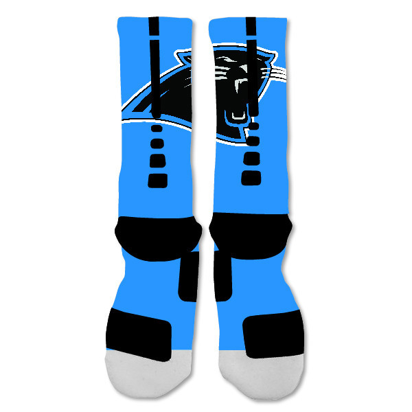 "Nike Elite socks custom Carolina Panthers Light Blue Single ""Fast Shipping"""