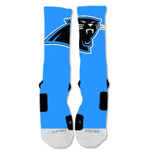 "Nike Elite socks custom Carolina Panthers Light Blue Single ""Fast Shipping"" - $24.99"