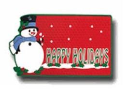 """Snowman Welcome Mat 15"""" x  25"""" Door Mat by Plasticolor -  8257 - $4.99"""