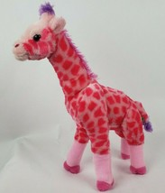 "Wild Republic Vibes Giraffe 17"" Plush Pink Purple Spotted Horns Stuffed ... - $14.52"