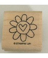 Stampin Up Stamp Flower Heart Center Card Making Craft Happy Heart Day 1... - $3.00