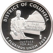 DISTRICT OF COLUMBIA 2009  S Proof Silver State Quarter - DCAM - $9.95
