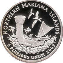 NORTHERN MARIANA ISLANDS 2009 - S Proof Silver State Quarter - DCAM - $9.95