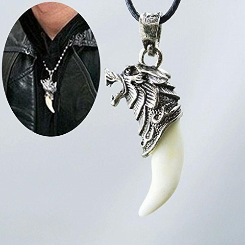 Vintage Wolf Tooth Dragon Alloy Pendant Necklace - One Item w/Random Color an...